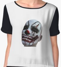 scary clown, circus, freaqshow, halloween, creepy, geek, nerd Chiffon Top