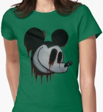 Suicide Mouse Women's Fitted T-Shirt