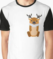 Reindeer Christmas Graphic T-Shirt