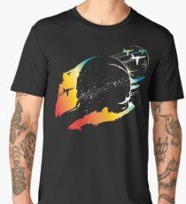 Modern artistic colorful astronaut sci fi space art  Men's Premium T-Shirt