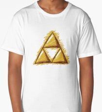 Sketchy Triforce on White Long T-Shirt