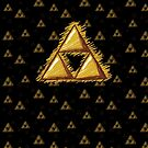 Sketchy Triforce on Black by Sarinilli