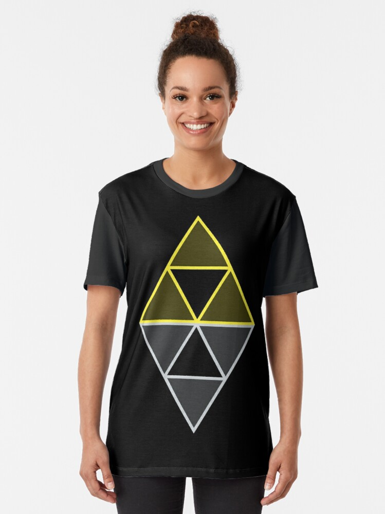 Alternate view of Hyrule & Lorule Triforces Graphic T-Shirt