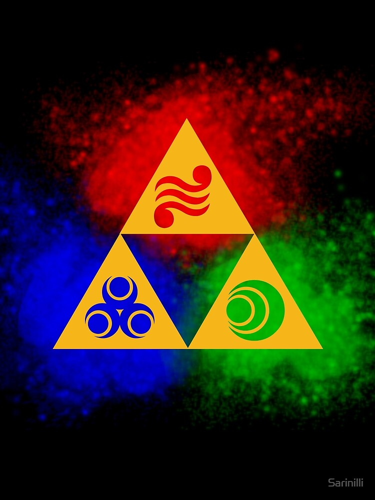 Triforce with Goddess Symbols by Sarinilli