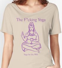 The F*cking Yoga Goddess Pixelated Women's Relaxed Fit T-Shirt