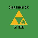 Triforce of Courage by Sarinilli