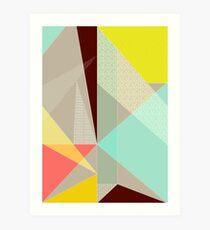 Diagonal Patterns Art Print