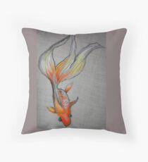 Goldfish Pond (close up #6) Throw Pillow