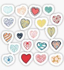 Vintage Herzen auf rosa Hintergrund Sticker