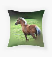 Galloping Gallantly Throw Pillow