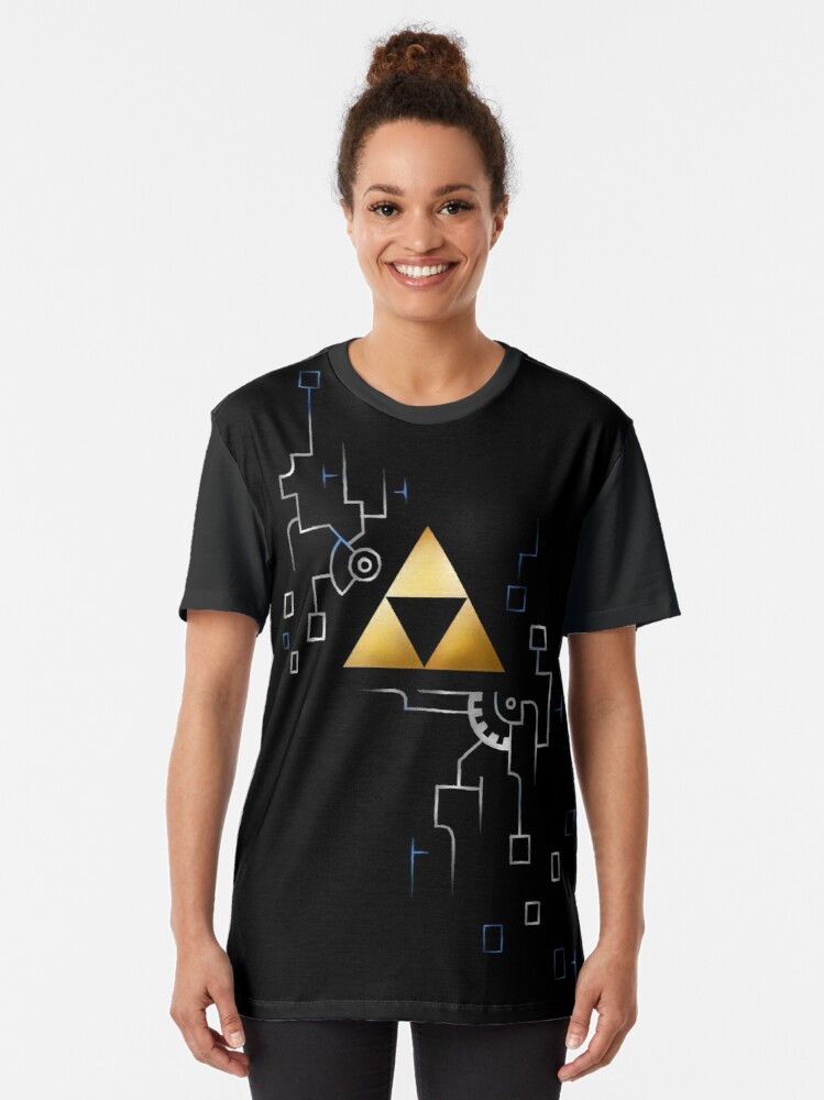 Alternate view of Twilight Triforce Graphic T-Shirt