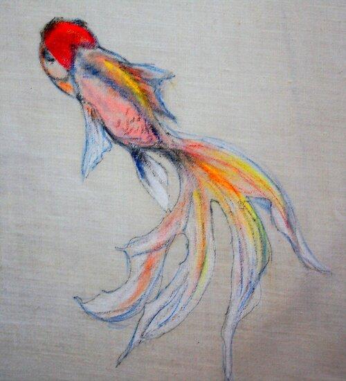 Goldfish Pond (close up #3) by Ming  Myaskovsky