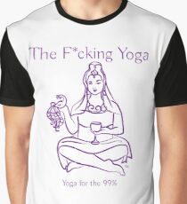 The F*cking Yoga Goddess Offering the Bird Graphic T-Shirt