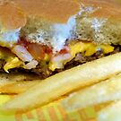 Cheeseburger and Fries by FrankieCat