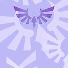 Hylia Crest - Purple on Periwinkle by Sarinilli