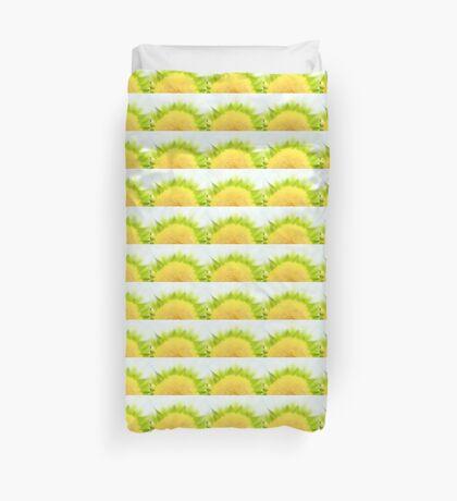 Green Solar Flares Duvet Cover