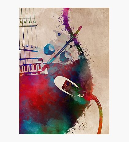 guitar art 4 #guitar #music Photographic Print