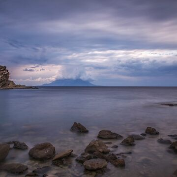 A view of Samothrace island from Imroz island by hayrettinsokmen
