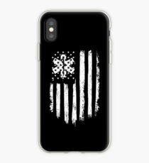 Beunruhigte amerikanische Flagge EMT iPhone-Hülle & Cover