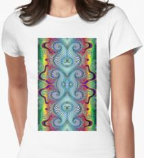 Wurburbo Fractal Art Women's Fitted T-Shirt