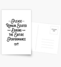 Please Remain Seated Bathroom Sign Postcards