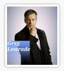 Greg Lestrade blue Sticker