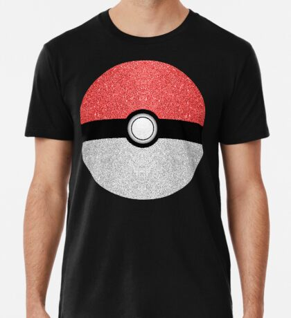 Sparkly red and silver sparkles poke ball Men's Premium T-Shirt