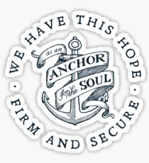 Anchor for the Soul: Hebrews 6:19 Sticker