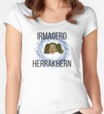 IRMAGERD HERRAKHERN Women's Fitted Scoop T-Shirt