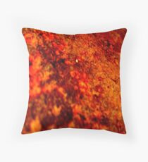 BURNT RUST Throw Pillow