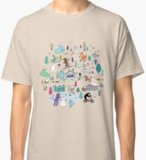 Alpine Animal Antics - original - Cute winter pattern by Cecca Designs Classic T-Shirt