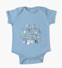 Alpine Animal Antics - original - Cute winter pattern by Cecca Designs Kids Clothes