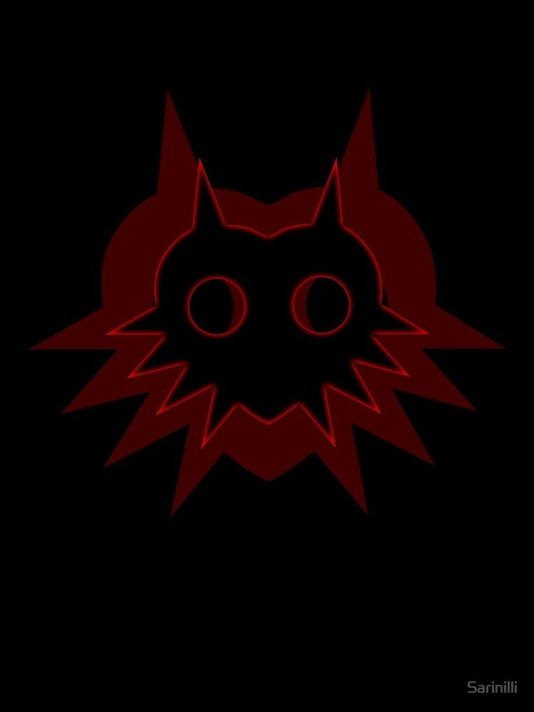 Majora's Shadow in Red on Black by Sarinilli
