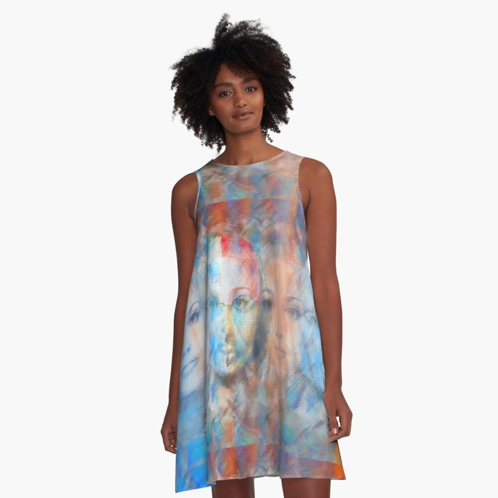 The passage fragment - phases and frequencies A-Line Dress Front
