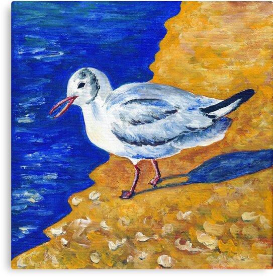 Seagull at the Baltic Sea by CarolineLembke