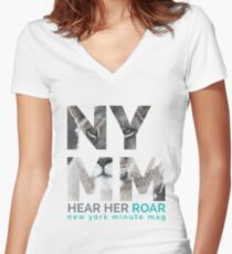 NYMM Lioness Women's Fitted V-Neck T-Shirt