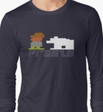Boy and his polar bear FREEZE Long Sleeve T-Shirt