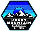 Rocky Mountain National Park Colorado Blue by MyHandmadeSigns