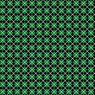 Diamonds and Stripes - Green and Silver by Sarinilli