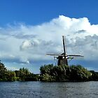 Old mill at the River Vecht by jchanders