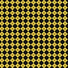Diamonds and Stripes - Yellow and Black by Sarinilli
