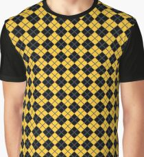 Diamonds and Stripes - Yellow and Black Graphic T-Shirt