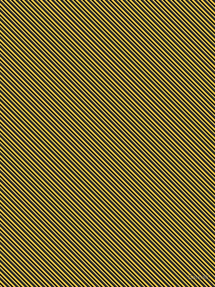 Stripes (Small) - Yellow and Black by Sarinilli
