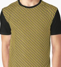 Stripes - Yellow and Black Graphic T-Shirt