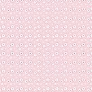 Sakura - white on pink checker by Sarinilli