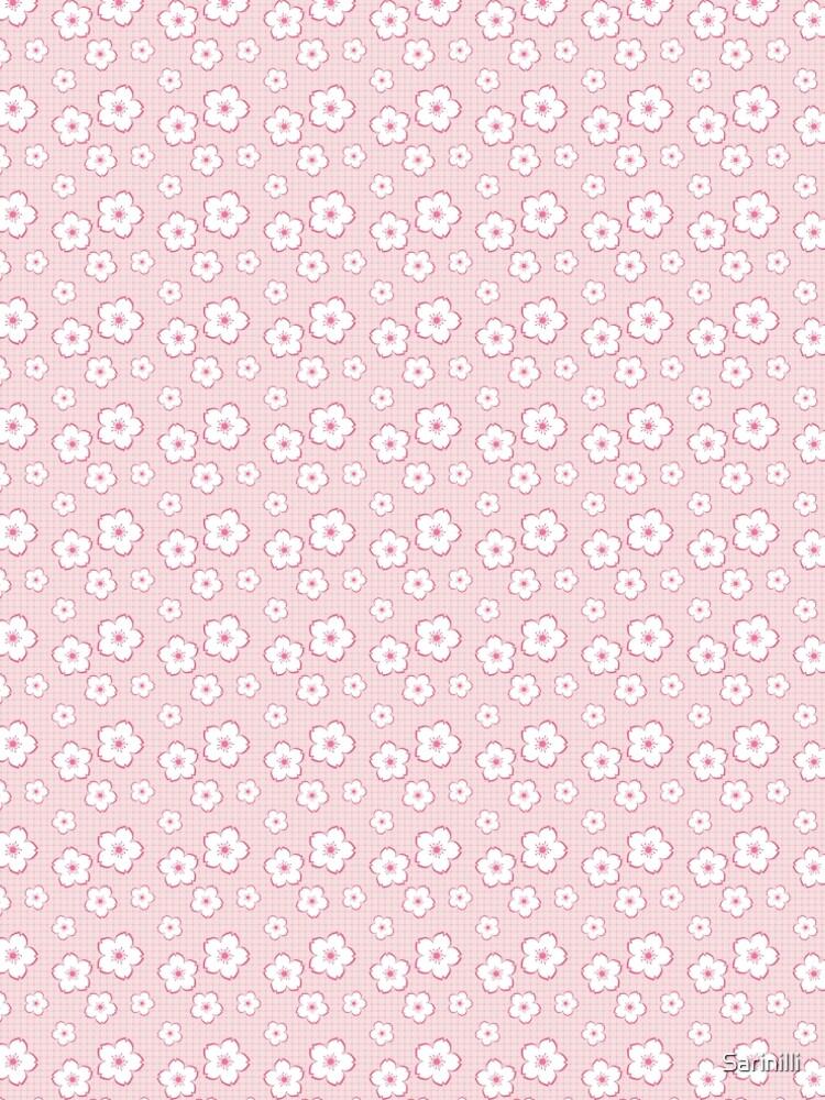 Sakura - white on pink checker by Sarinilli