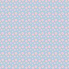 Sakura - pink on blue checker by Sarinilli