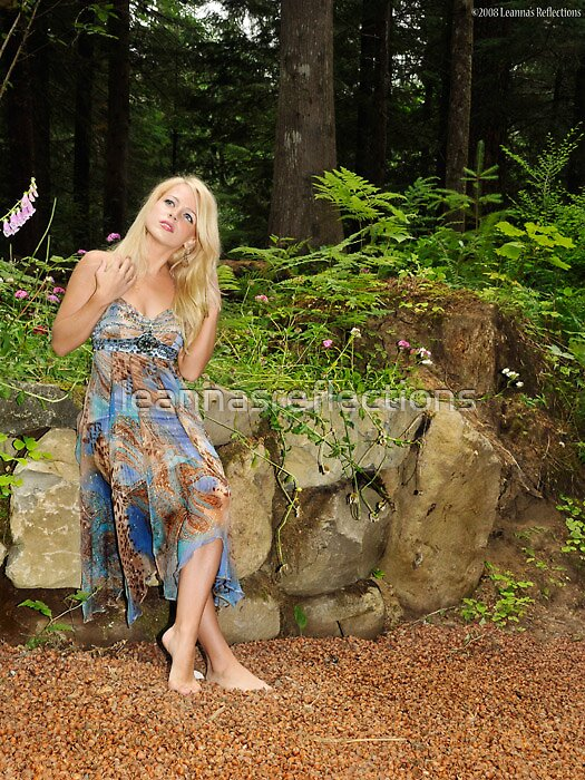 Jaimie in the woods by leannasreflections