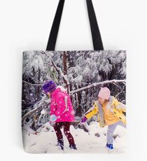 Snow Fight Tote Bag