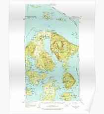 USGS Topo Map Washington State WA Orcas Island 242973 1957 62500 Poster